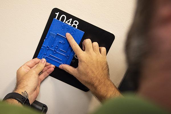 独特的3D打印触觉地图可帮助视障学生在USF校园中进行导航