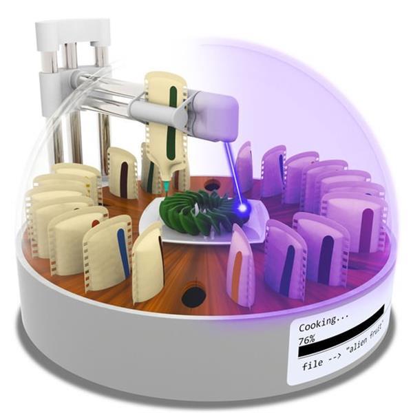 哥伦比亚研究人员使用激光3D打印食物