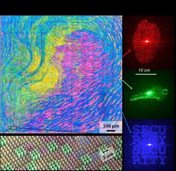 新加坡研究人员使用3D打印的纳米结构来制造防伪装置