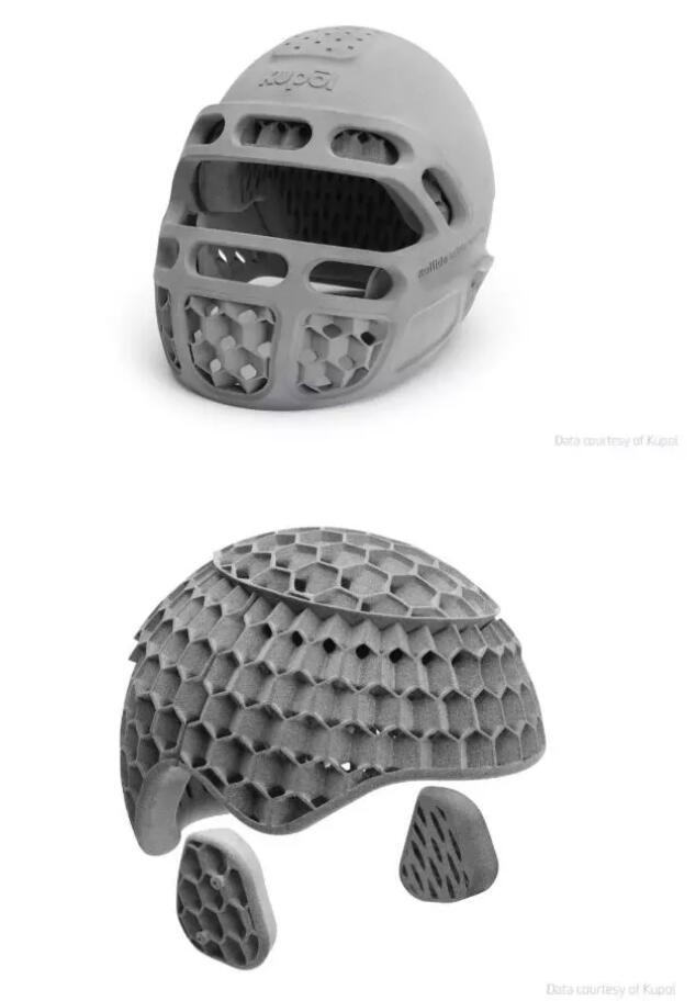采用新型巴斯夫ULTRASINTTM 热塑性聚氨酯(TPU)材料打印的Kupol头盔的内部