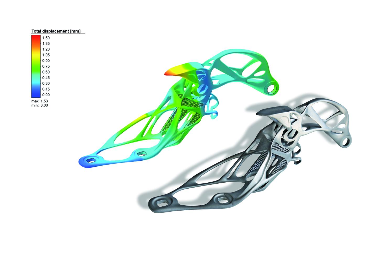 在Simufact添加剂上创建的模拟旁边的汽车发动机罩铰链