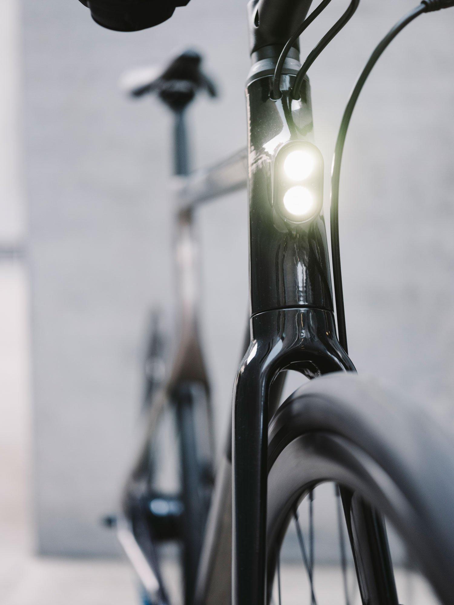 带有集成灯的3D打印自行车